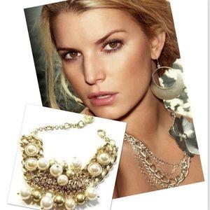 Jessica Simpson Cha Cha Charm Bracelet Gold tone